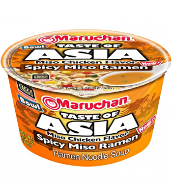 Maruchan - Spicy Chicken Miso Ramen Noodles & Vegetables Bowl - 3.38oz (96g) Food and Groceries Maruchan