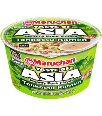 Maruchan - Pork Tonkotsu Ramen Noodles & Vegetables Bowl - 3.38oz (96g) Food and Groceries Maruchan