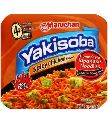 Maruchan - Spicy Chicken Flavor Yakisoba Noodles - 4.11oz (116.6g) Food and Groceries Maruchan