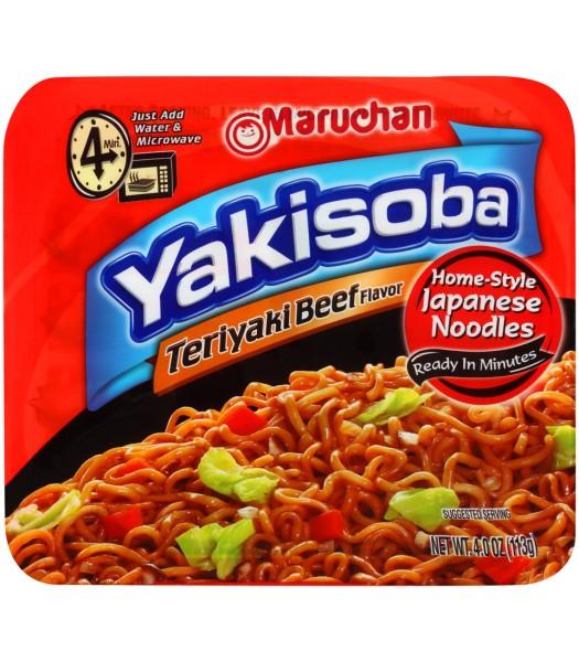 Maruchan - Teriyaki Beef Flavor Yakisoba Noodles - 4oz (113g) Pasta & Noodles Maruchan