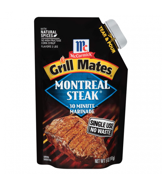 McCormick Grill Mates Montreal Steak 30 Minute Marinade - 5oz (141g) Food and Groceries