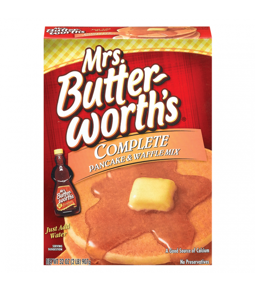 Mrs Butterworth Original Complete Pancake and Waffle Mix 32oz (907g) Food and Groceries