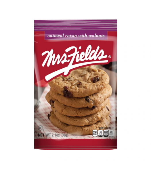 Clearance Special - Mrs Fields Oatmeal Raisin with Walnuts Cookies - 2.1oz (60g) **Best Before: 20 August 21** Clearance Zone