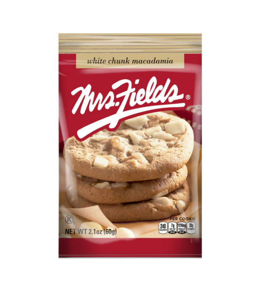 Mrs Fields White Chunk Macadamia Cookies - 2.1oz (60g) Cookies and Cakes