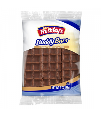 Mrs Freshley's Buddy Bar Peanut Butter Wafers Triple Pack 3oz (85g) Brownies & Bars Mrs Freshley's