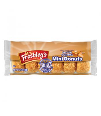 Mrs Freshley's Limited Edition Salted Caramel Mini Donuts 3.4oz (96g) Donuts Mrs Freshley's