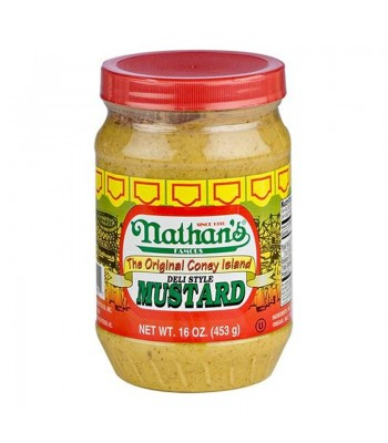 Nathan's Famous Deli Style Mustard JAR - 16oz (453g) Food and Groceries Nathan's Famous