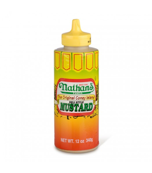 Nathan's Famous Coney Island Deli Style Mustard 12oz (340g) Squeeze Bottle Sauces & Condiments Nathan's Famous