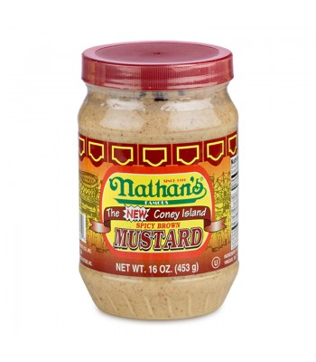 Nathan's Famous Spicy Brown Mustard - 16oz (453g) Food and Groceries Nathan's Famous