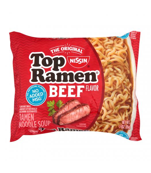 Nissin Top Ramen Beef - 3oz (85g) Food and Groceries Nissin