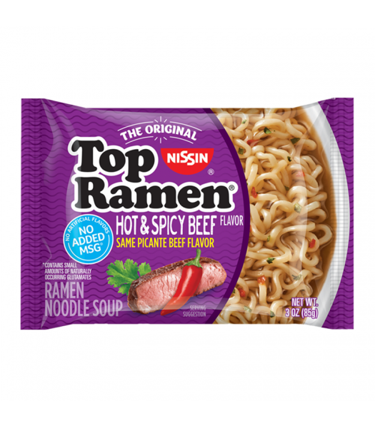 Nissin Top Ramen Hot & Spicy Beef - 3oz (85g) Food and Groceries Nissin