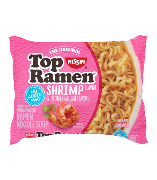 Nissin Top Ramen Shrimp - 3oz (85g) Food and Groceries Nissin