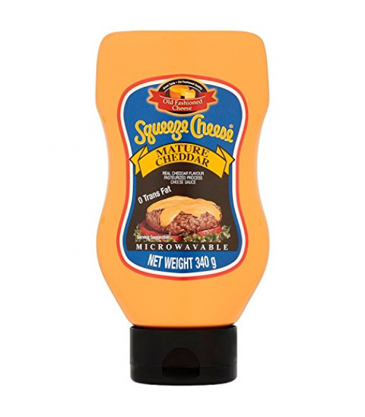 Old Fashioned Foods Mature Cheddar Squeeze Cheese (340g) Sauces & Condiments