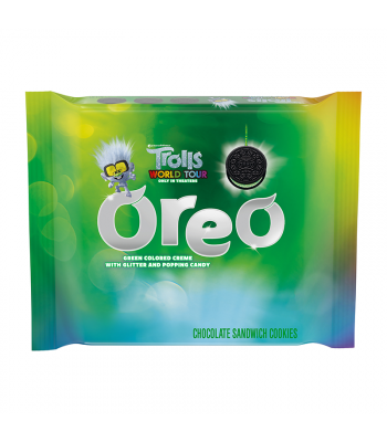 Clearance Special - Oreo Trolls Green Glitter Creme - 10.7oz (303g) **Short Dated: 14 September 20** Cookies and Cakes Oreo