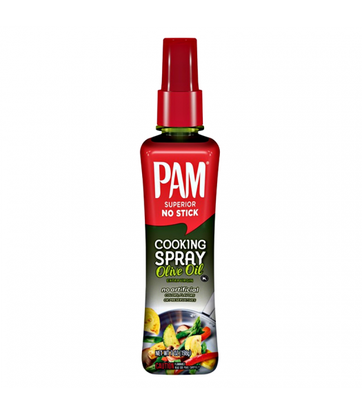 PAM Cooking Spray No Stick Extra Virgin Olive Oil - 7oz (198g) Food and Groceries