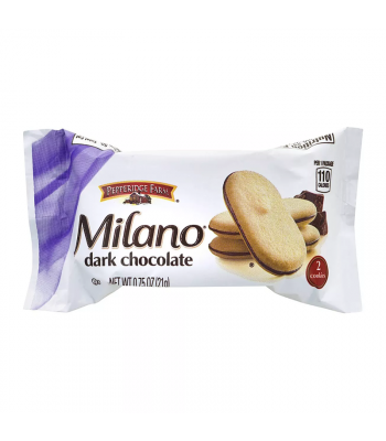 Pepperidge Farm Milano Dark Chocolate Cookies 2-Pack - 0.75oz (21g) Cookies and Cakes Pepperidge Farm