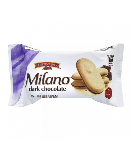 Pepperidge Farm Milano Dark Chocolate Cookies 2-Pack - 0.75oz (21g) Cookies and Cakes Pepperidge Farm