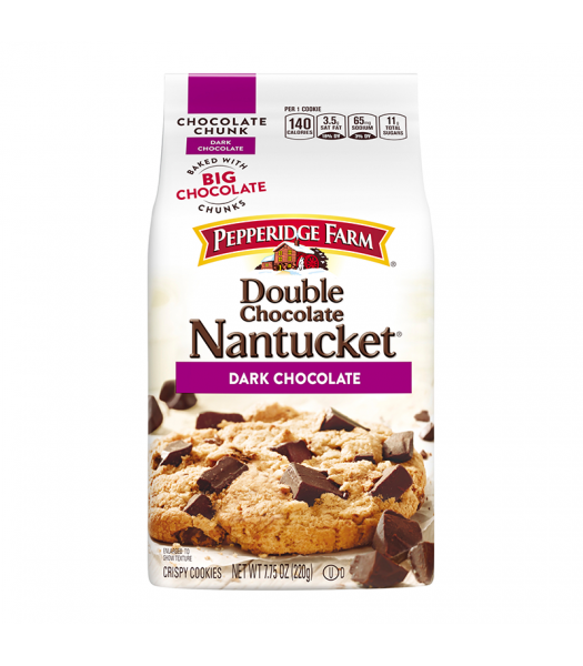 Clearance Special - Pepperidge Farm Nantucket Double Dark Chocolate Cookies - 7.75oz (220g) **Best Before:  17 March 20** Clearance Zone