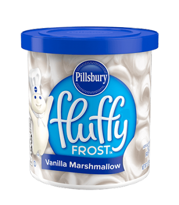 Pillsbury Fluffy Vanilla Marshmallow Frosting 12oz (340g) Baking & Cooking Pillsbury