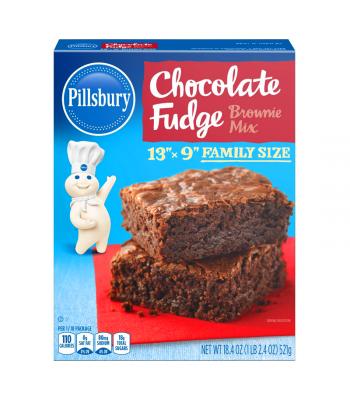Pillsbury Chocolate Fudge Family Size Brownie Mix - 18.4oz (521g) Food and Groceries Pillsbury