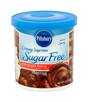 Pillsbury Creamy Supreme Sugar Free Chocolate Fudge Frosting 15oz (425g) Baking & Cooking Pillsbury