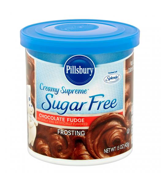 Pillsbury Creamy Supreme Sugar Free Chocolate Fudge Frosting 15oz (425g) Food and Groceries Pillsbury
