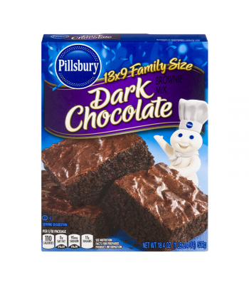 Pillsbury Dark Chocolate Brownie Mix - 18.4oz (521g) Food and Groceries Pillsbury