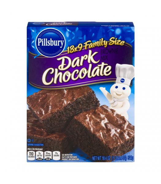 Pillsbury Dark Chocolate Brownie Mix - 18.4oz (521g) Food and Groceries Pillsbury