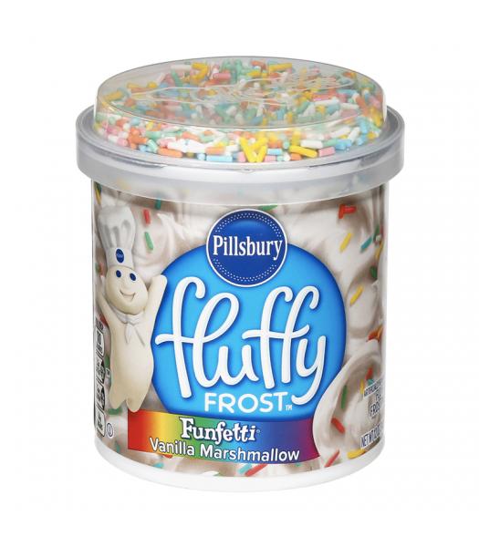 Pillsbury Fluffy Frost Funfetti Vanilla Marshmallow - 12oz (340g) Food and Groceries Pillsbury
