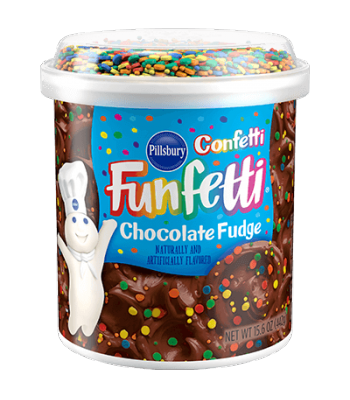 Pillsbury Chocolate Fudge Funfetti Frosting - 15.6oz (442g) Baking & Cooking Pillsbury