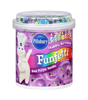 Pillsbury Bold Purple Vanilla Funfetti Frosting 15.6oz (442g) Baking & Cooking Pillsbury