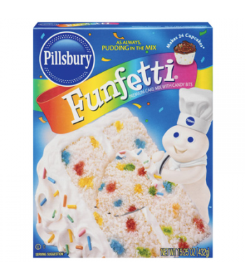 Pillsbury Plus Funfetti Cake Mix 15.25oz Baking & Cooking Pillsbury