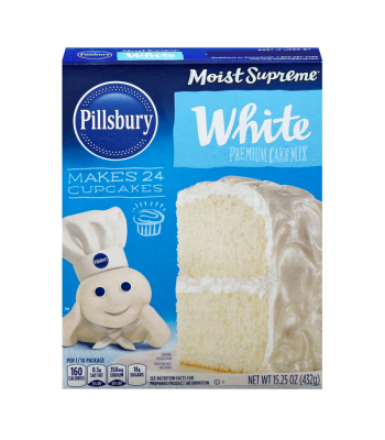 Pillsbury Moist Supreme White Premium Cake Mix - 15.25oz (432g) Food and Groceries Pillsbury