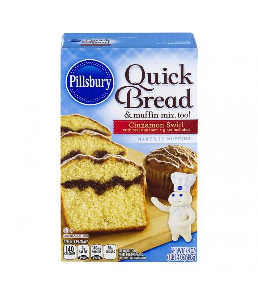 Pillsbury Cinnamon Swirl Quick Bread 17.4oz (493g) Food and Groceries Pillsbury