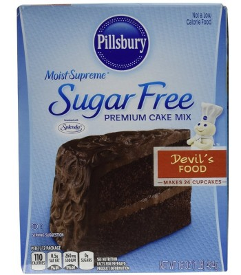 Pillsbury Sugar Free Moist Supreme Devil's Food Cake Mix 16oz (454g) Food and Groceries Pillsbury