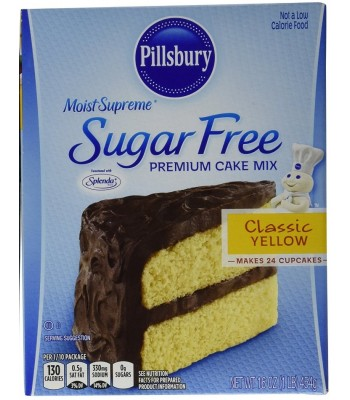 Pillsbury Sugar Free Moist Supreme Yellow Cake Mix 16oz (454g) Baking & Cooking Pillsbury