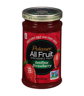 Polaner All Fruit Spreadable Fruit - Seedless Strawberry 10oz (283g) Peanut Butter & Spreads