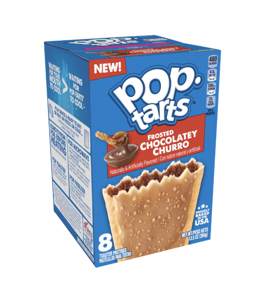 Pop Tarts - Frosted Chocolatey Churro 8-Pack - 13.5oz (384g) Toaster Pastries Pop Tarts