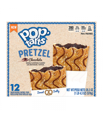 Clearance Special - Pop Tarts Pretzel Chocolate 12-Pack (6 x 2 Toaster Pastries) - 20.3oz (576g) **Best Before: 05 April 21** Clearance Zone