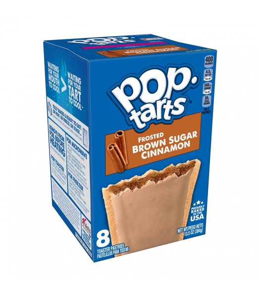 Pop Tarts Frosted Brown Sugar Cinnamon 8-Pack - 13.5oz (384g) Cookies and Cakes Pop Tarts
