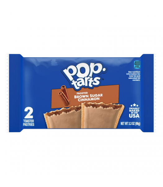 Pop Tarts - Frosted Brown Sugar Cinnamon - Twin Pack - 3.3oz (96g) Cookies and Cakes Pop Tarts
