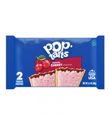 Pop Tarts - Frosted Cherry - Twin Pack - 3.3oz (96g) Cookies and Cakes Pop Tarts