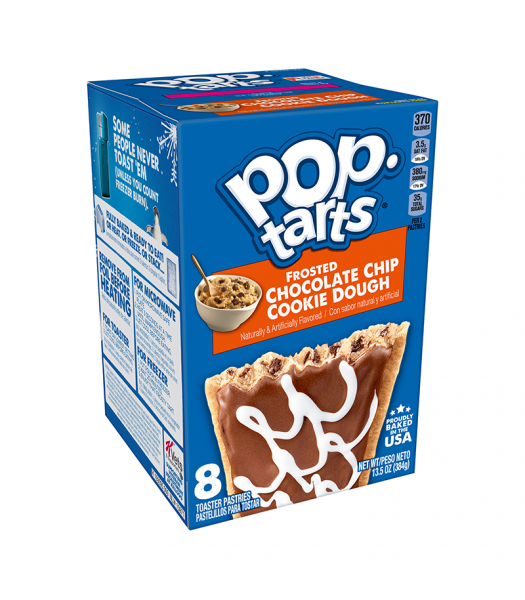 Pop Tarts - Frosted Chocolate Chip Cookie Dough - 8 Pack 13.5oz (384g) Cookies and Cakes Pop Tarts