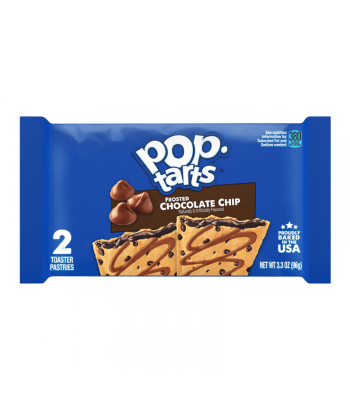 Pop Tarts - Frosted Chocolate Chip - Twin Pack - 3.3oz (96g) Cookies and Cakes Pop Tarts