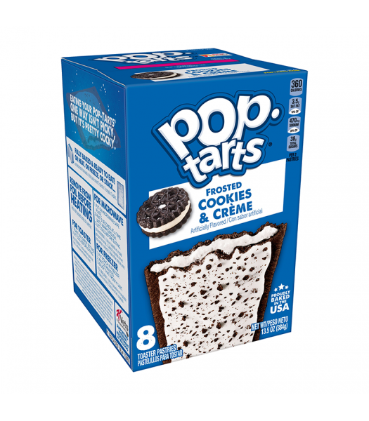 Pop Tarts - Frosted Cookies & Creme - 8 Pack 13.5oz (384g) Cookies and Cakes Pop Tarts