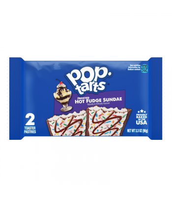 Pop Tarts - Frosted Hot Fudge Sundae - Twin Pack - 3.3oz (96g) Cookies and Cakes Pop Tarts