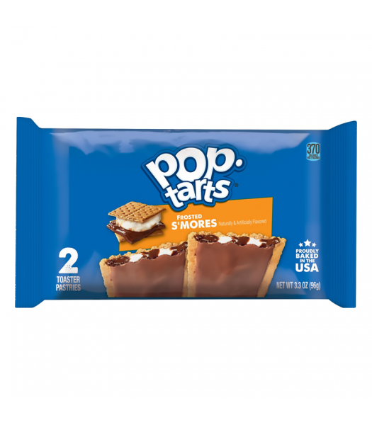 Pop Tarts - Frosted S'mores - Twin Pack - 3.3oz (96g) Cookies and Cakes Pop Tarts