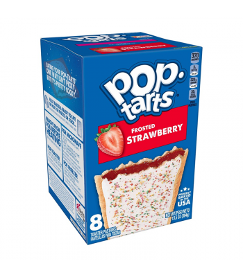 Pop Tarts Frosted Strawberry 8-Pack - 13.5oz (384g) Cookies and Cakes Pop Tarts