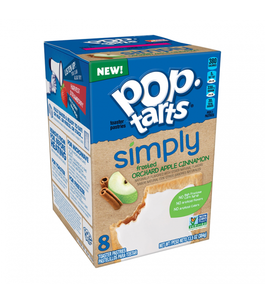 Pop Tarts Simply Frosted Orchard Apple Cinnamon 8-Pack 13.5oz (384g) Cookies and Cakes