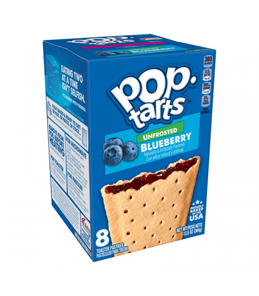 Pop Tarts Unfrosted Blueberry 8-Pack - 13.5oz (384g) Cookies and Cakes Pop Tarts